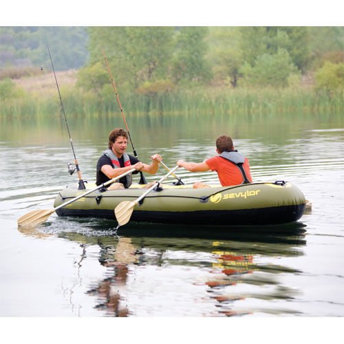 Wts brand new water raft oars paddles sevylor fish for 4 person fishing boat